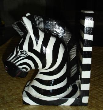 Zebra Bookends