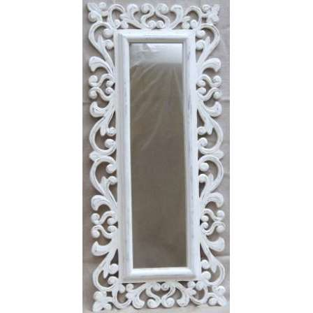 Boho white Timber Frame Mirror