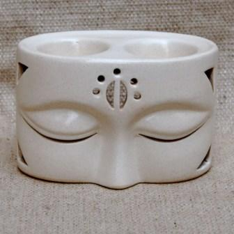 Oil Burner Buddha White