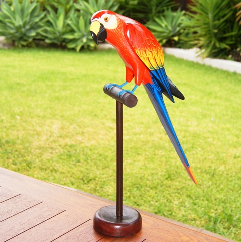 Parrot on stick Sml-specify colour options