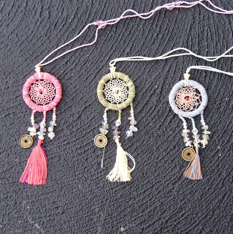 dreamcatcher lace necklace