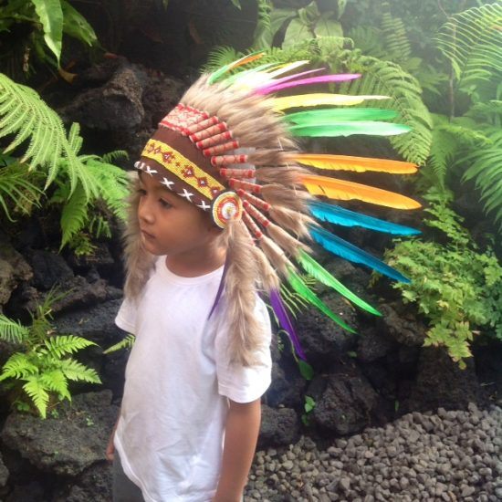 Indian headdress children