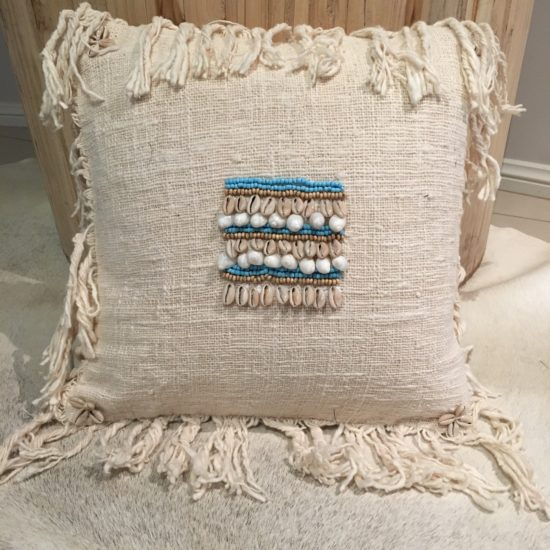 CUSHION COVER BEADS & SHELLS
