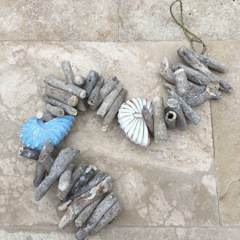 Hanging shell/bell driftwood