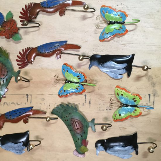 Bird hooks pack 10 mixed