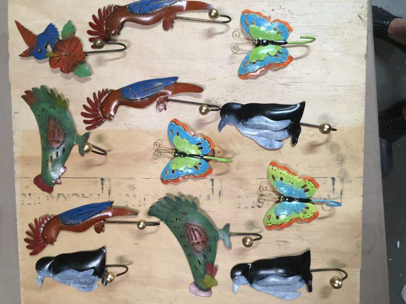 Bird hooks pack 10 mixed