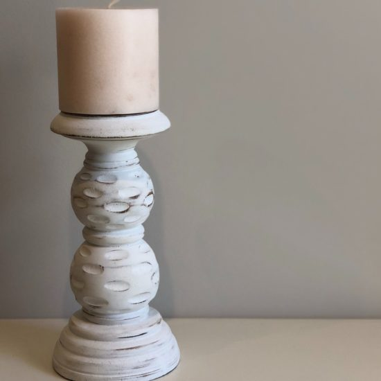 WHITE BUBBLE CANDLE HOLDER 20cm