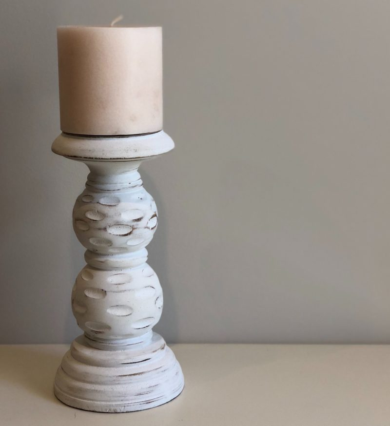 WHITE BUBBLE CANDLE HOLDER 20cm