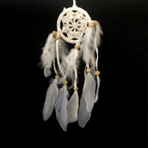 small crochet dreamcatcher white