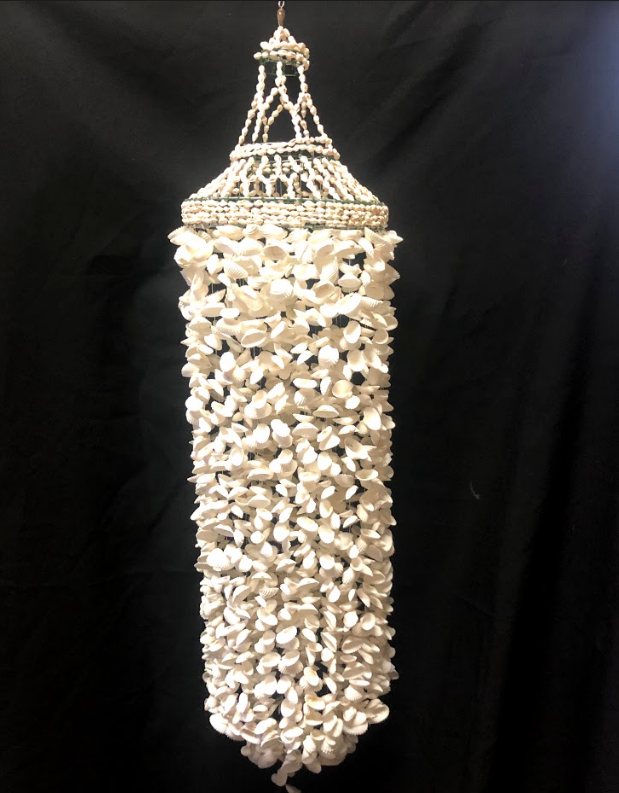 White shell wind chime