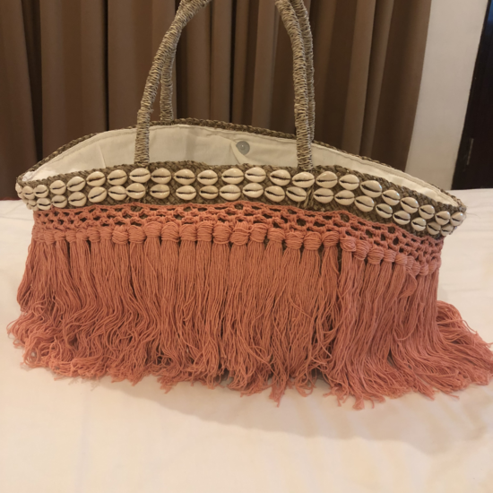 BLUSH BAG WITH SHELL