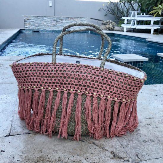 BLUSH BAG BEADED