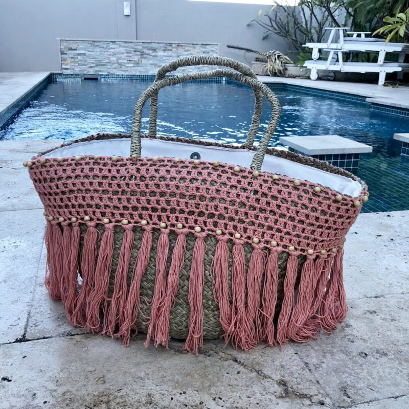 BLUSH BAG BEADED