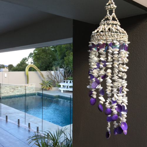 SHELL WINDCHIME PURPLE