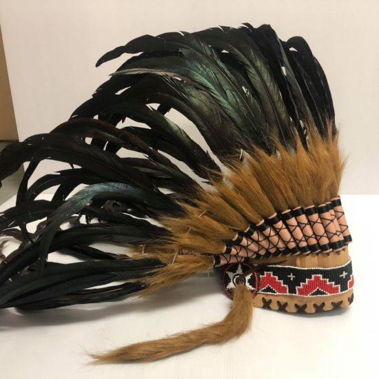 headdress black and natural