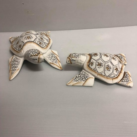WHITE TURTLE SET OF 2