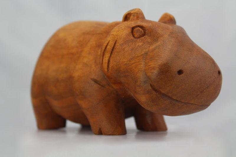 Hippo natural finish 15cm