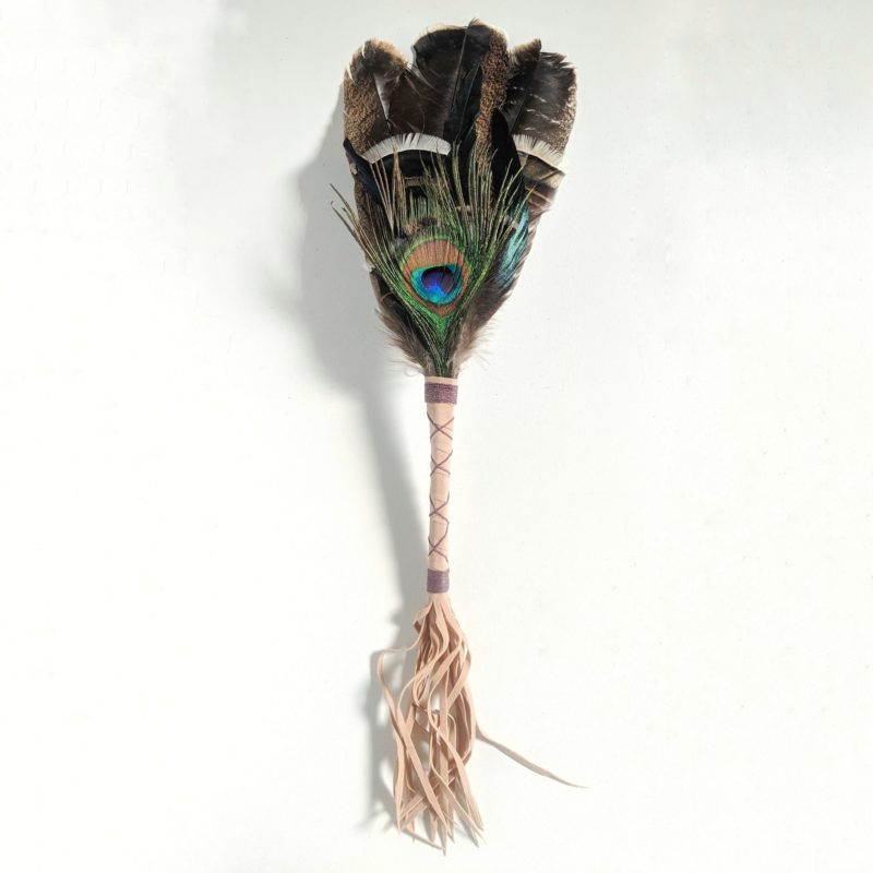 Smudging turkey and Peacock feather