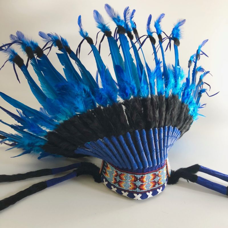 Headdress black and blue