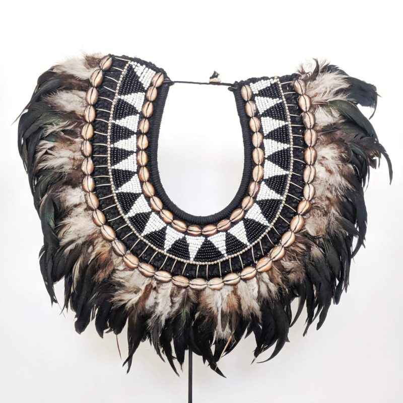 LG TRIBAL FEATHER NECKLACE