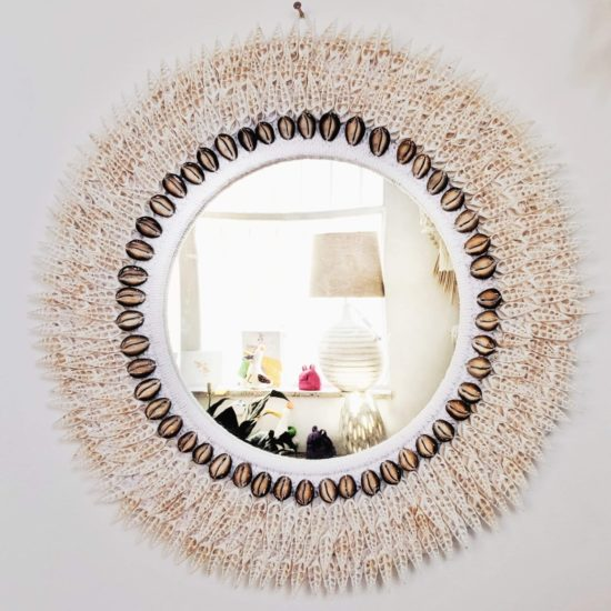spike shell mirror white