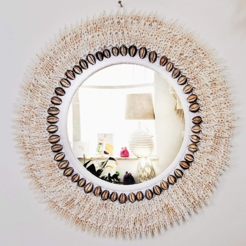spike shell mirror white